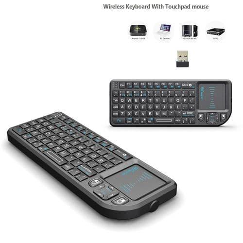 Rii X1 2.4Ghz Télécommande Sans Fil Mini Clavier Touchpad_Anglais Qwerty
