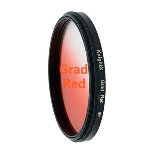 Rouge Graduel Gradué Couleur Appareil  Photo Photographie Filtre Diamètre 52mm