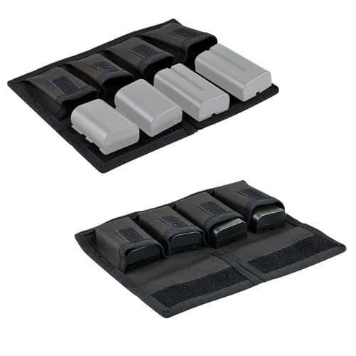 Sacoche De Transport Pour Contenir 4 Batteries Et 4 Cartes Mémoire Sd / Xqd / Cf