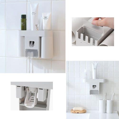 salle de bains Distributeur automatique de dentifrice et porte brosse à dents