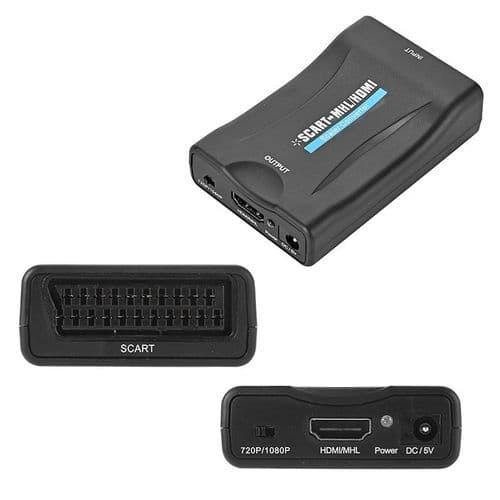 SCART vers HDMI 1080P Convertisseur Audio Vidéo Adaptateur pour TV HD