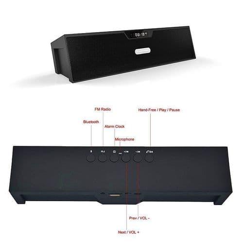 SDY-019 Enceinte Bluetooth FM Radio Lecteur De Carte Mémoire USB Horloge