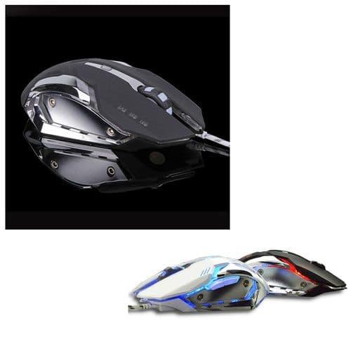 Souris Filaire Gaming 6 Boutons Réglable 3200 Dpi Led Optique Usb Souris