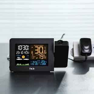 Station Météo Avec Heure En Projection Radio Calendrier Réveil Alarme Horloge