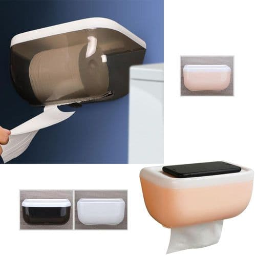 Support Adhésif  Boîte Distributeur Dérouleur Rouleau De Papier Toilette Murale