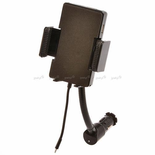 Support Allume-cigare FM Transmetteur Chargeur USB Smartphone iPhone 5 6 Plus