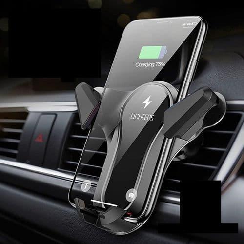 Support Chargeur Smartphone De Voiture Sans Fil 10W Qi Recharge Rapide Mobile