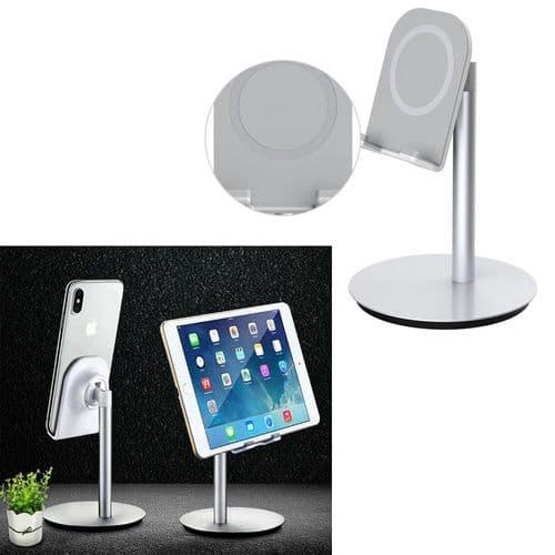 Support De Bureau Angle Réglable En Aluminium Hauteur 168Mm Pour Tablette Mobile