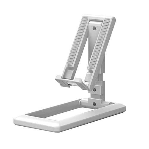 Support De Tablette Mobile Smartphone Sur Bureau Pliable Compact Réglable Blanc
