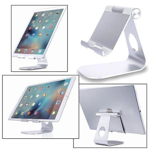 Support Dock Pied Aluminium Métallique pour Tablette iPad Smartphone