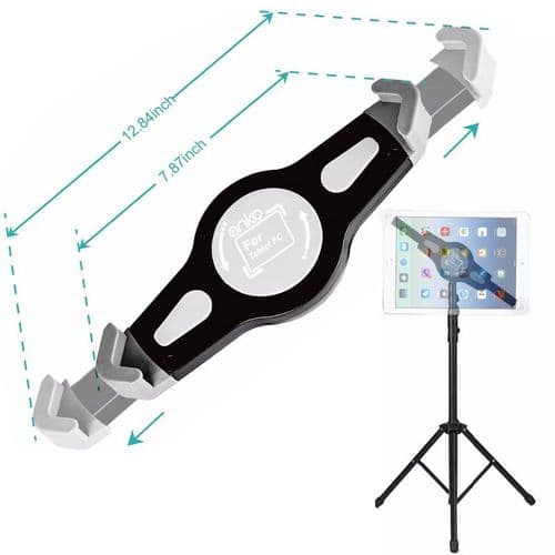 Support Et Trépied Réglable Hauteur Rotation 360 Degré Pour Tablette 7-12 Pouces