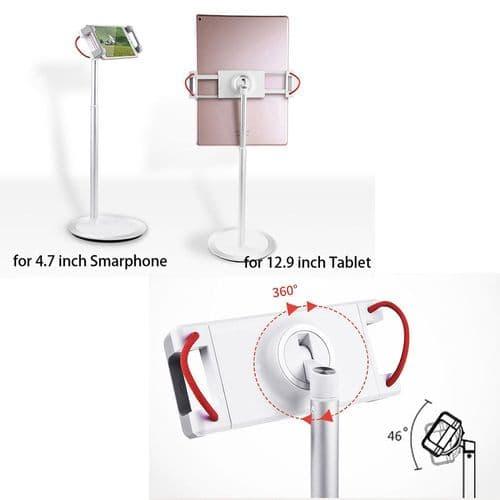 Support Extensible Alliage Aluminium Pour Tablette Mobile 4,7 À 12,9 Pouces