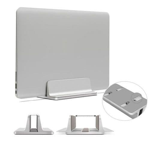 Support Fixation Pour Ordinateur Portable Vertical Largeur Réglable En Aluminium