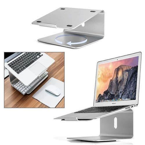 Support Pied Rotatif Dock En Aluminium Métal Pour Ordinateur Portable MacBook
