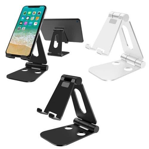 Support Pliable De Bureau Angle Réglable Pour Smartphone Tablette En Aluminium