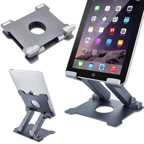 Support Pliable En Aluminium Réglable Pour Tablette Smartphone 7-13,5 Pouces