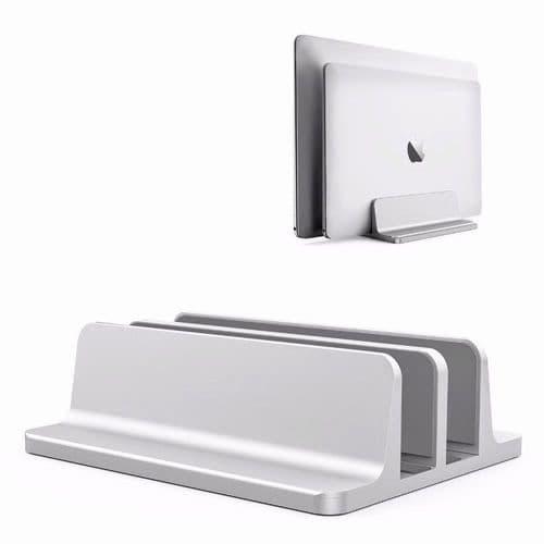 Support Pour Ordinateur Portable Vertical 2 Dans 1 Dock Épaisseur Réglable