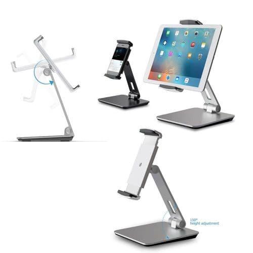 Support Réglable Pliable En Aluminium Support De Bureau Pour Smartphone Tablette