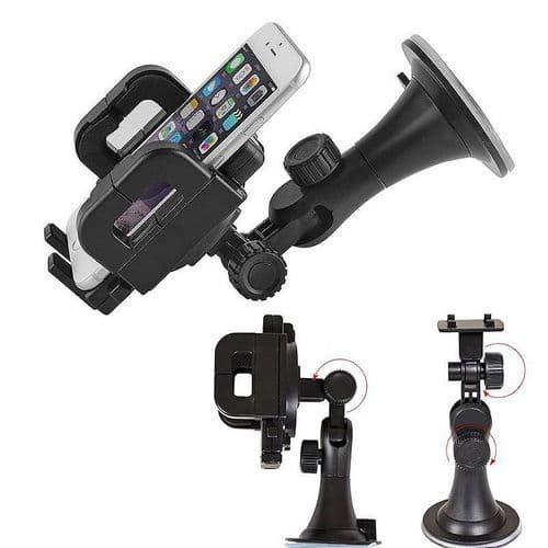 Support Réglable Ventouse pour Smartphone Mobile sur Pare-brise Voiture iPhone