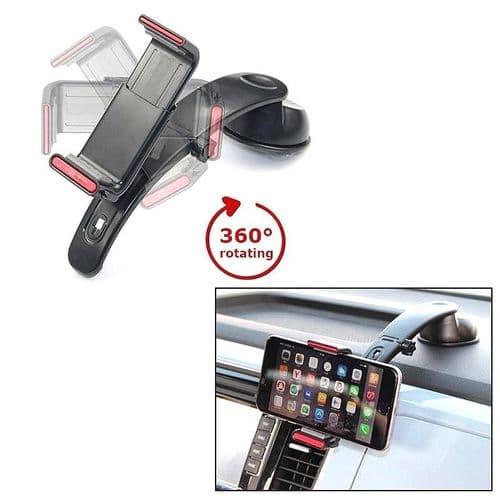 Support Smartphone 3 en 1 Pare-brise Tableau de bord Voiture Sortie Aération BK