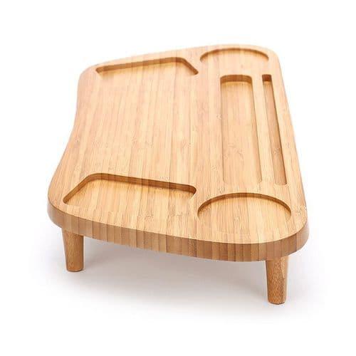 Support Surélevé En Bambou Pour Ordinateur Portable Et Écran Écran Sur Bureau