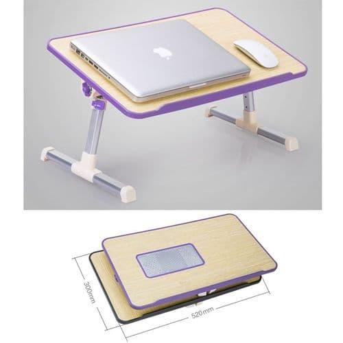 Support Table Avec Ventilateur Portable Pliable Pour Ordinateur Portable