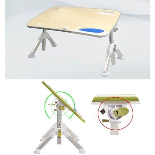 Support Table De Bureau Portatif Pliable Pour Ordinateur Portable Multi-Usage
