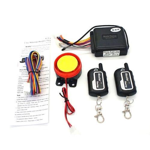 Système D'Alarme Sirène De Moto Scooter Télécommande Anti-Vol Capteur Vibration
