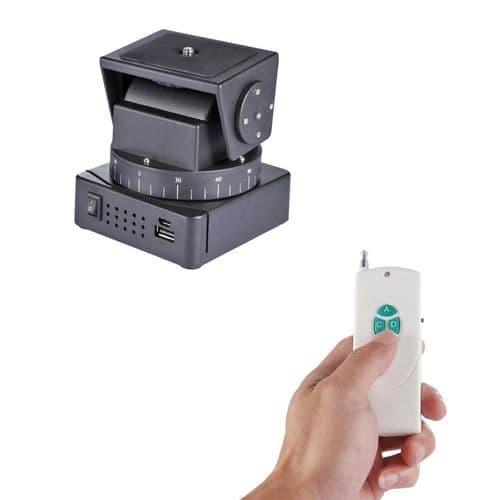 Tête Rotule De Trépied Motorisée + Télécommande Pour Caméra Action Mobile Photo