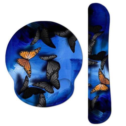 Tapis De Souris Avec Repose-Poignet Gel Pour Clavier D'Ordinateur Papillon