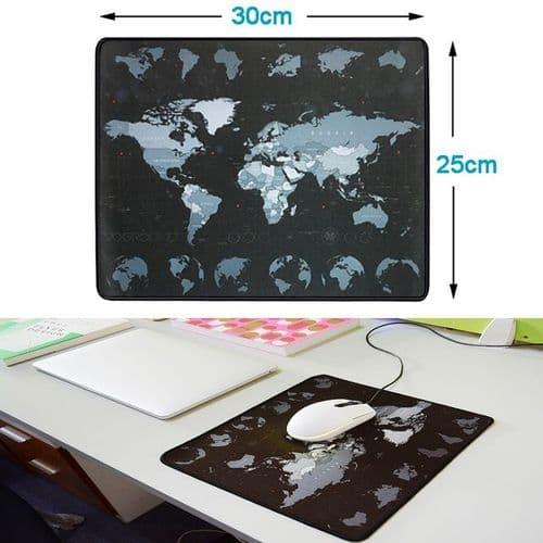 Tapis De Souris De Bureau Ordinateur Caoutchouc Naturel 300X250X2Mm Carte Monde