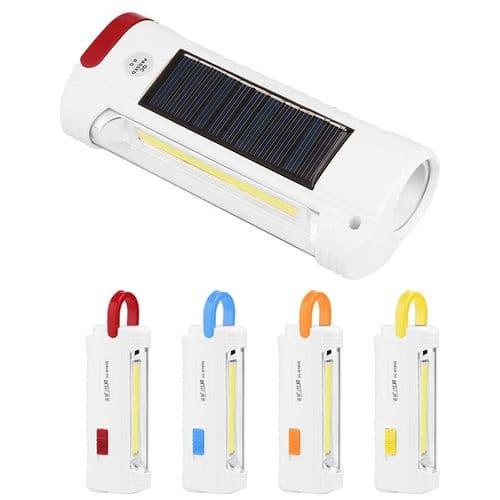 Torche LED Lampe Rechargeable Portative Énergie Solaire Chargeur Par USB