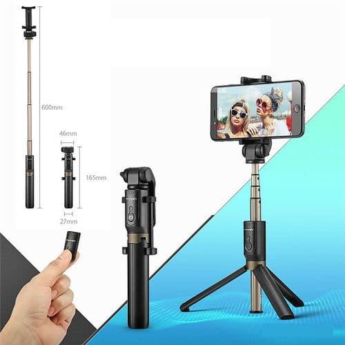 Trépied Sans Fil Bluetooth Perche Selfie Stick 3 En 1 Extensible Pour Smartphone