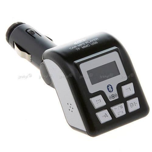 Transmetteur FM Allume-cigare Lecteur Carte SD USB Bluetooth Kit Main-libre 98