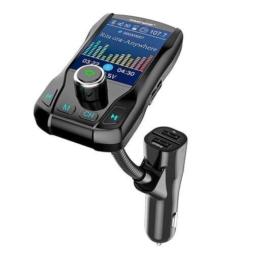Transmetteur Fm Bluetooth Kit Mains Libres Ecran Couleur Lecteur Mp3 Port Usb
