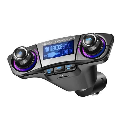 Transmetteur Fm De Voiture Lecteur Mp3 Bluetooth 4.0 Mains Libres Port Usb