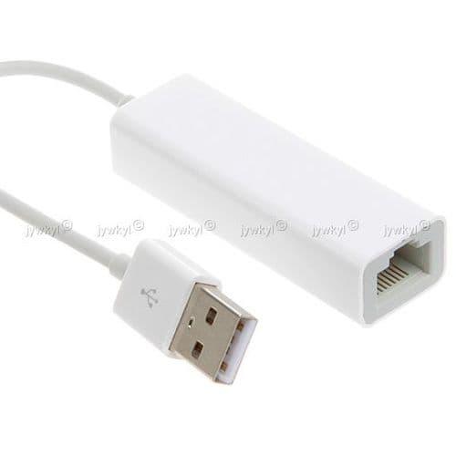 USB 2.0 vers Ethernet RJ45 Adaptateur Carte Réseau LAN pour Apple MacBook Air 10/100Mbps