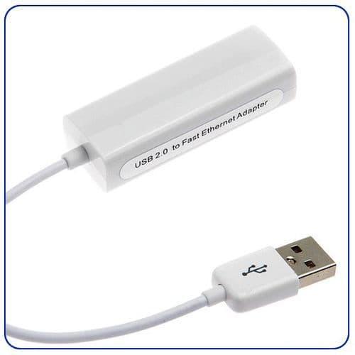 USB 2.0 vers Ethernet RJ45 Adaptateur Carte Réseau LAN pour Mac/Windows 10/100Mbps