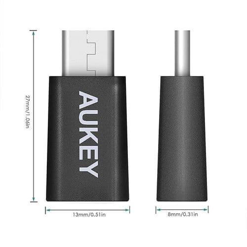 USB-C Mâle vers Micro USB Femelle Adaptateur pour Macbook Ordinateur Portable Mobile