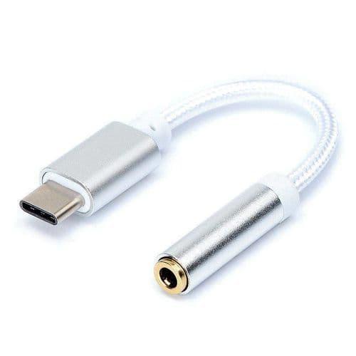 USB-C Type C Mâle vers Audio Mini-Jack 3,5mm Femelle Adaptateur Connecteur