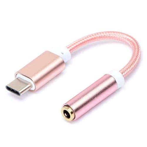 USB-C Type C Mâle vers Audio Mini-Jack 3,5mm Femelle Adaptateur Connecteur PK