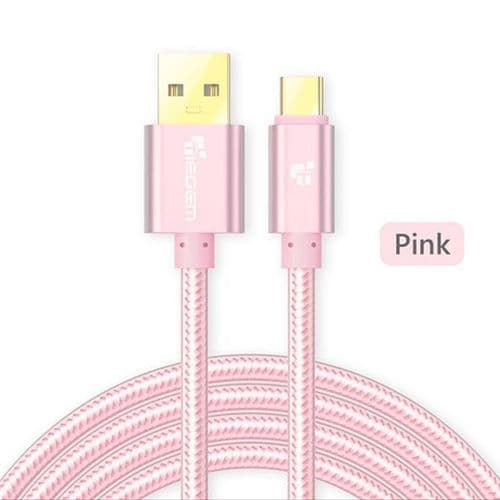 USB Mâle vers USB Type C Nylon USB-C Data Sync Câble de Charge Rapide 3M PK