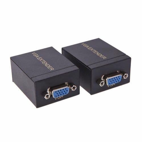 Vga Extendeur Câble Ethernet Vga Sur Rj45 Cat5/6 Émetteur Récepteur Jusqu'À 60M