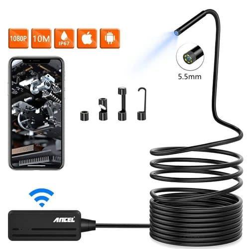 Wi-Fi Hd Endoscope Caméra D'Inspection 5.5Mm 1080P Sans Fil 5M Étanche