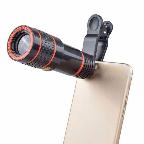 Zoom Optique Universel 12X À Clipser Pour Téléphone Portable Smartphone