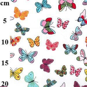 Butterfly / Butterflies On Ivory - 100% Cotton Print Fabric