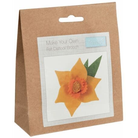 Trimits Make Your Own Felt Daffodil Brooch Sewing Kit