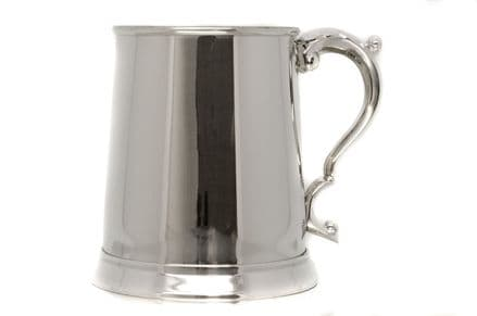 1 Pint Bright Polished Stainless Steel Tankard Personalised
