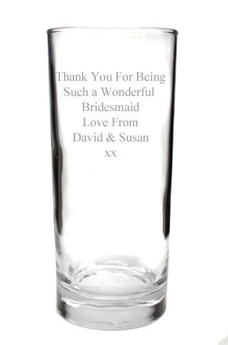 12oz Hi Ball Glass Personalised