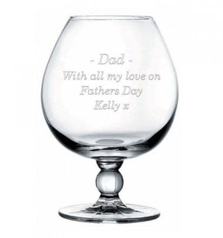 18oz Brandy Glass Personalised